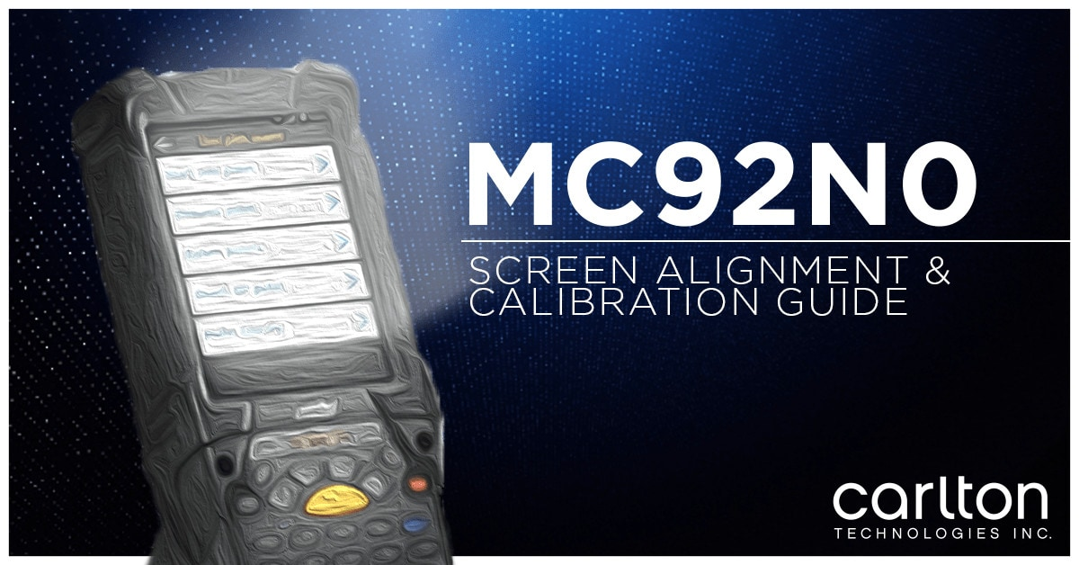 screen alignment for mc92n0 barcode scanner