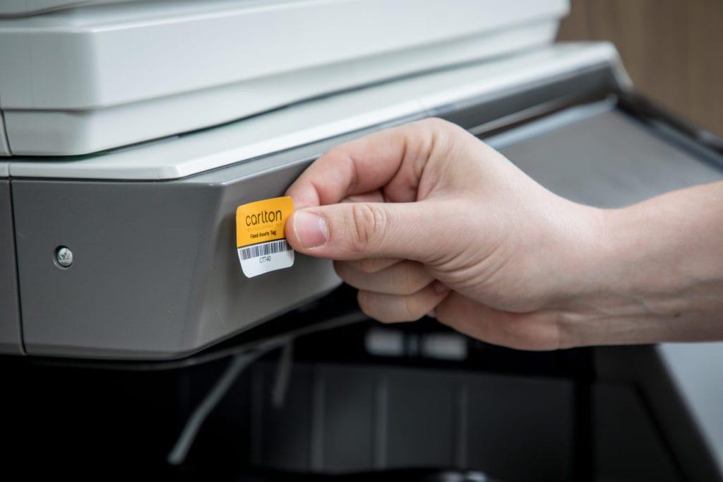 asset management printer tagging serialization